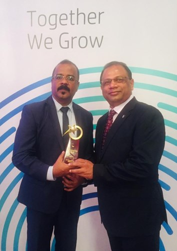 HP Printing & Supplies Distributor of the Year 2019 – Middle East Award